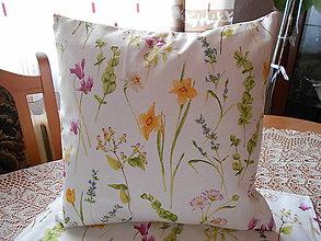 Úžitkový textil - Vankúš lúčne kvety - 11546798_