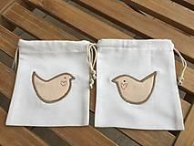 Úžitkový textil - vrecúško s vtáčikom.. - 11544798_