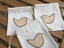 Úžitkový textil - vrecúško s vtáčikom.. - 11544799_