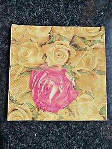 Papier - žlté ruže - 11546028_