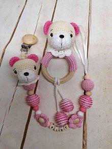 Detské doplnky - Set pre bábätká (ružová) - 11550682_
