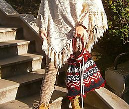 Veľké tašky - lel, kabela vlnený patchwork - 11549327_