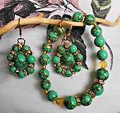 Sady šperkov - zelený tyrkenit - 11549760_