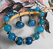 Sady šperkov - Achát pruhovaný - 11550158_