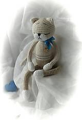 Hračky - Murko s modrou mašličkou - 11548166_