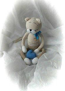 Hračky - Murko s modrou mašličkou - 11548164_