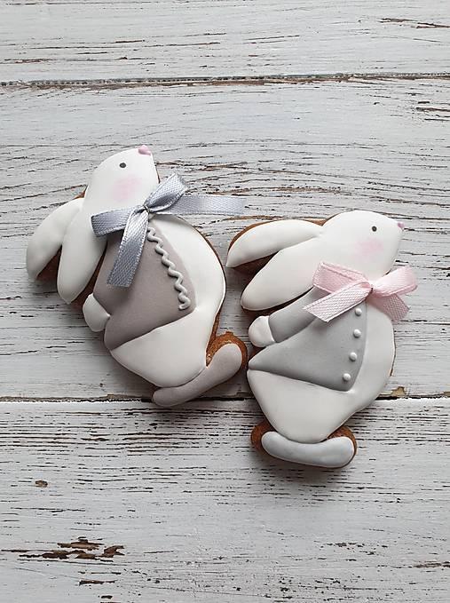 Dekorácie - Zajačik s mašlou - 11548823_