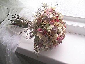 """Dekorácie - Svadobná kytica vintage ...""""spolu s Tebou""""... - 11550581_"""