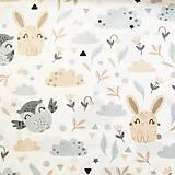 Textil - Zajkovia a sovy, 100 % bavlna Poľsko, šírka 160 cm - 11550401_