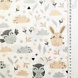 Textil - Zajkovia a sovy, 100 % bavlna Poľsko, šírka 160 cm - 11550402_