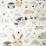 Textil - Zajkovia a sovy, 100 % bavlna Poľsko, šírka 160 cm - 11550404_