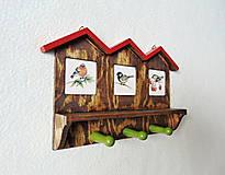 Nábytok - Vešiak na kľúče Vtáčie domčeky - 11550057_