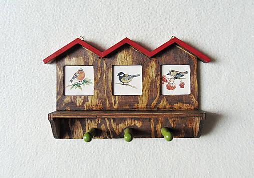 Vešiak na kľúče Vtáčie domčeky