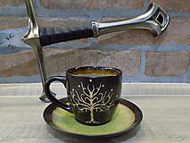 Nádoby - Kolekcia Pán Prsteňov - Šálka Strom Gondoru - 11550166_