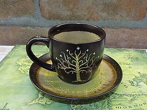Nádoby - Kolekcia Pán Prsteňov - Šálka Strom Gondoru - 11550167_