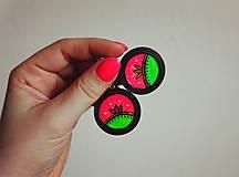 Náušnice - Neon lotus - náušnice - 11550557_
