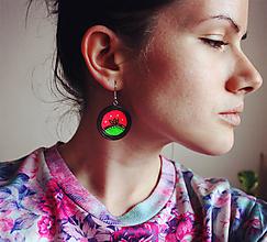 Náušnice - Neon lotus - náušnice - 11550556_