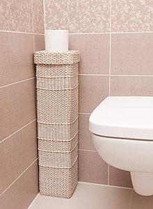 Krabičky - Zásobník na toaletný papier veľký (výška 70 cm) - 11549356_