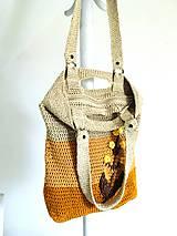 """Veľké tašky - Háčkovaná taška """"Vegan absolute"""". - 11550481_"""