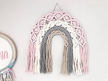 Makramé dekorácia - Veselá dúha