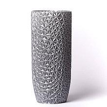 Dekorácie - Polygon Váza - Rapunzel Silver - 11551784_