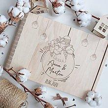 Papiernictvo - Svadobný personalizovaný drevený album - 11550714_
