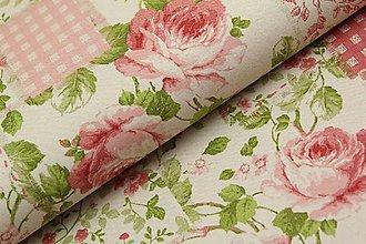 Textil - Ruže šípové na režnej š.140cm - 11549079_