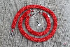 Sady šperkov - súprava červeno-červená - 11552059_