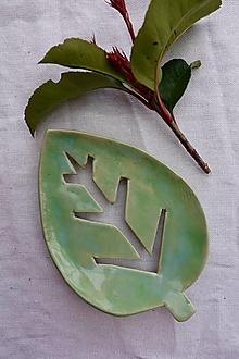 Nádoby - Mydelnička- zelený list - 11552657_