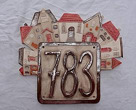 Tabuľky - Popisné číslo na dom: bronzovo červené - 11552684_