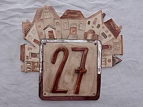 Tabuľky - Popisné číslo na dom: hnedé - 11552694_