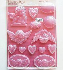 Pomôcky/Nástroje - Plastová forma pružná, Stamperia, A4 (anjel, srdce) - 11553388_