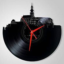 Hodiny - Nitriansky hrad  - vinylové hodiny (vinyl clocks) - 11552545_