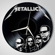 Hodiny - Metallica vol.2 - vinylové hodiny (vinyl clocks) - 11552574_