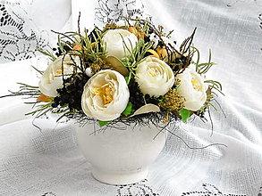 Dekorácie - Bielo-čierna dekorácia - 11554811_
