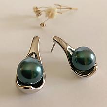 Náušnice - perlové náušnice tahitské - 11553215_
