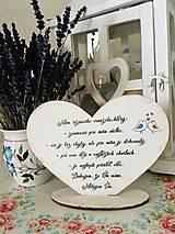 Tabuľky - Srdiečko pre manžela - 11553130_