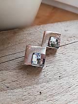 Náušnice - Swarovski black diamond - 11555349_