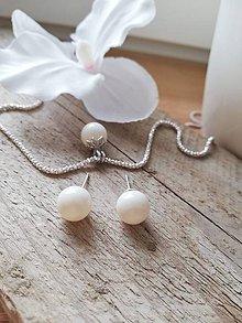 Sady šperkov - Swarovski perla biela Ivory - 11555313_