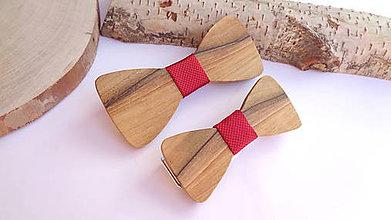 Doplnky - Sada drevených motýlikov OTEC & SYN - 11553751_