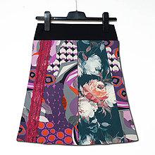 Sukne - Sukně vzorovaná s krajkou - 11554096_