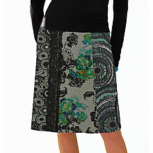 Sukne - Sukně do zelené s krajkou - 11554231_