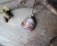 Náhrdelníky - Farebná duna (achát) - 11553764_