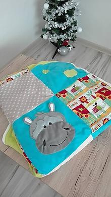 Textil - Hracia deka SAFARI s interaktívnymi 3D zvieratkami - 11552812_