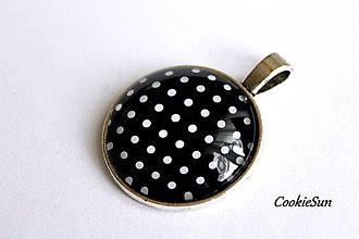 """Náhrdelníky - Prívesok """"Dots Black"""" - 11552413_"""