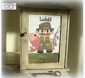 Klúčová skrinka-darček rybárovi :)
