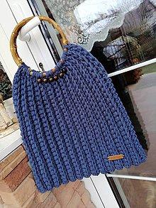 Kabelky - Modrá jeans - 11553613_