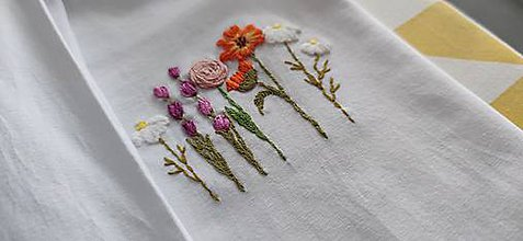 Tričká - Tričko s motívom kvetín, nechtíkové - 11552081_