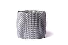 Nádoby - Polyknit květináč - Rapunzel Silver - 11555319_