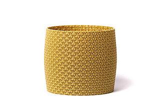 Nádoby - Polyknit květináč - Gold Happens - 11555327_